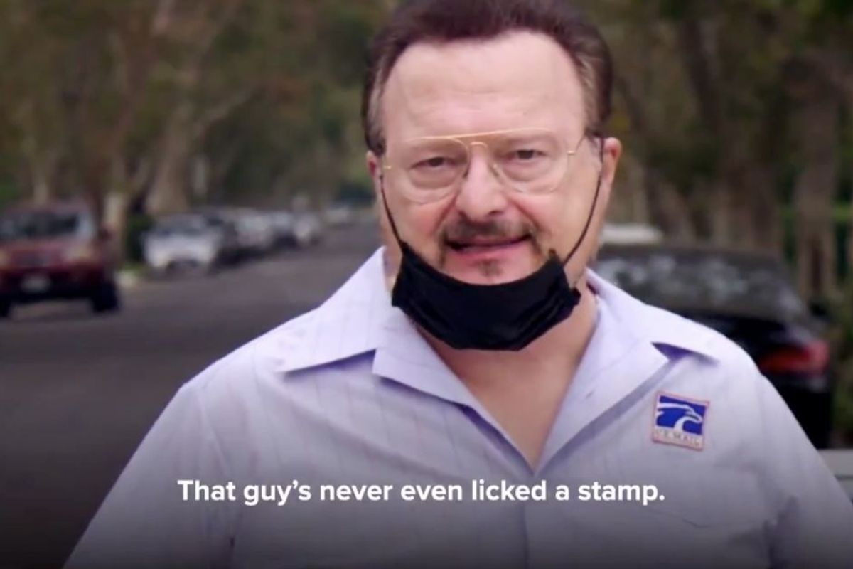 America's favorite mail carrier has a an election message for us all