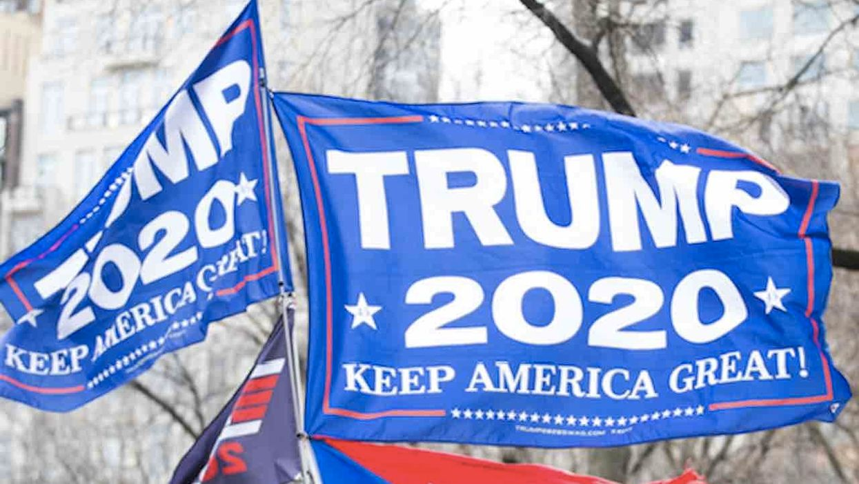 HS teacher orders student to take down flag supporting President Trump seen in his room — or leave online class