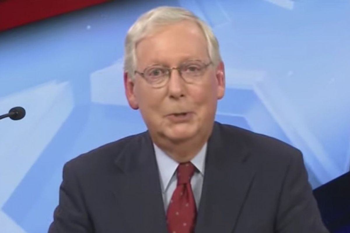 Mitch McConnell just laughs when when confronted by opponent on failing to pass Covid relief