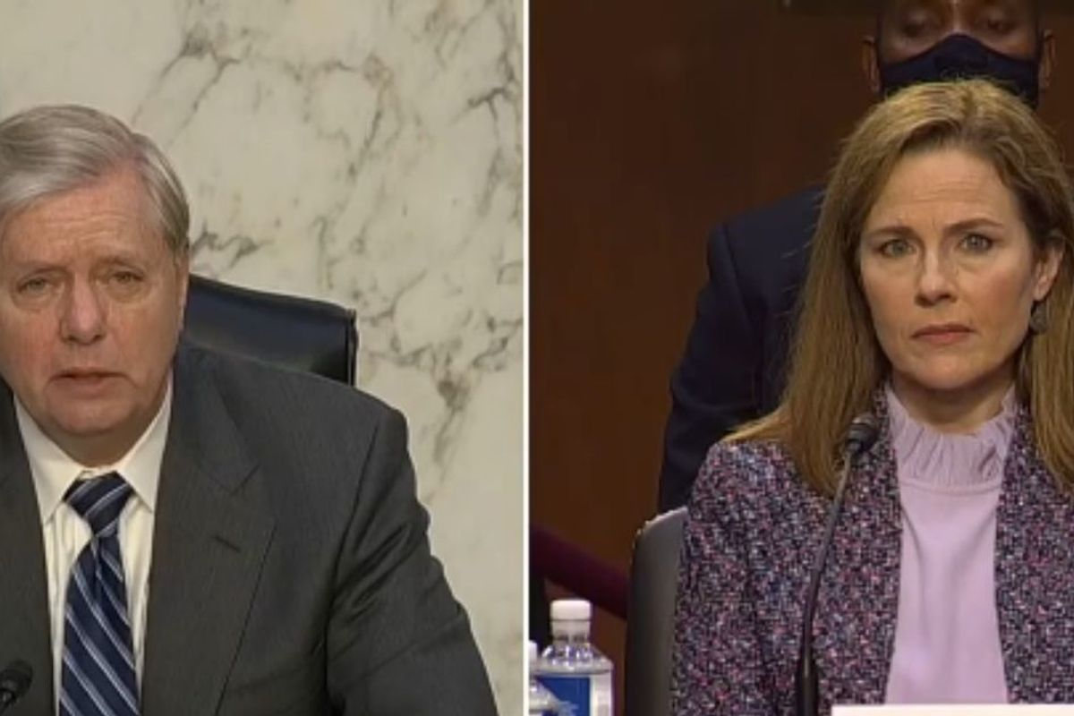 Lindsey Graham Slammed After Comparing Same-Sex Marriage To Polygamy While Questioning Amy Coney Barrett