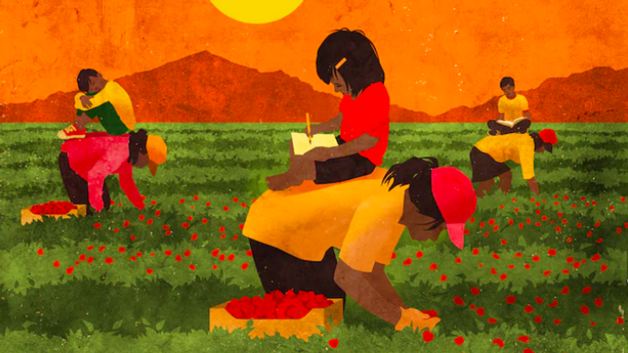 Left without school or day care, farmworkers are bringing their kids to work