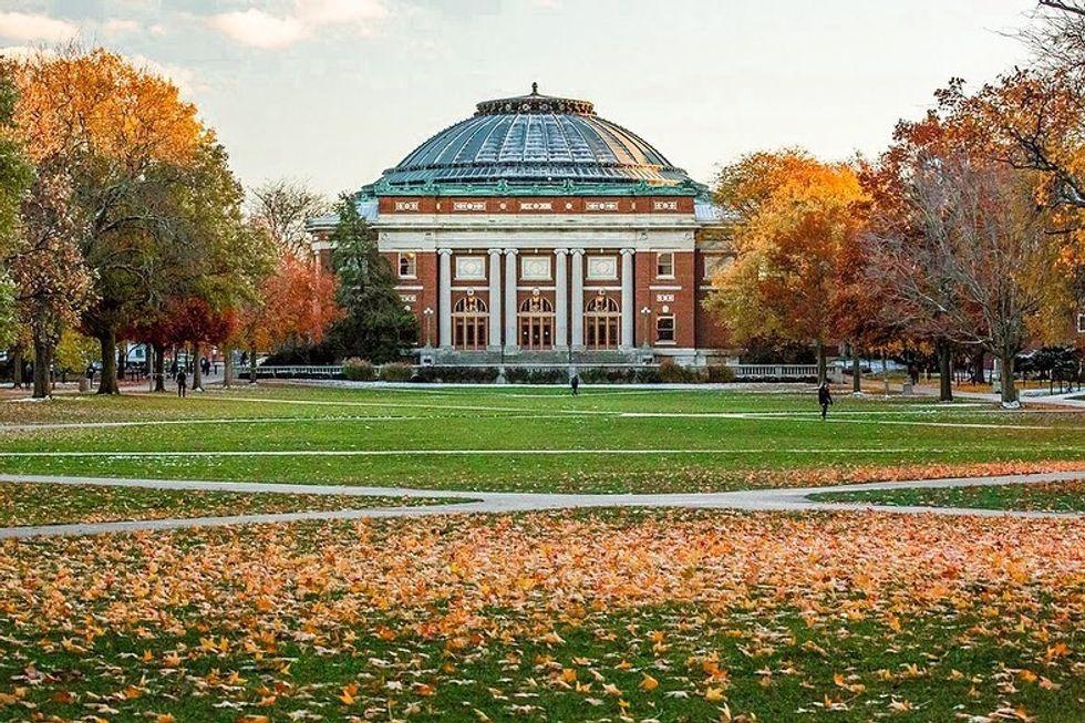 University of Illinois Main Quad in Fall