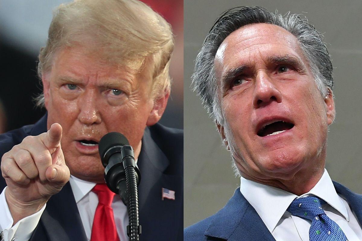 Mitt Romney slams Trump for not condemning QAnon conspiracy, and adds scorn for Democrats refusing to denounce Antifa