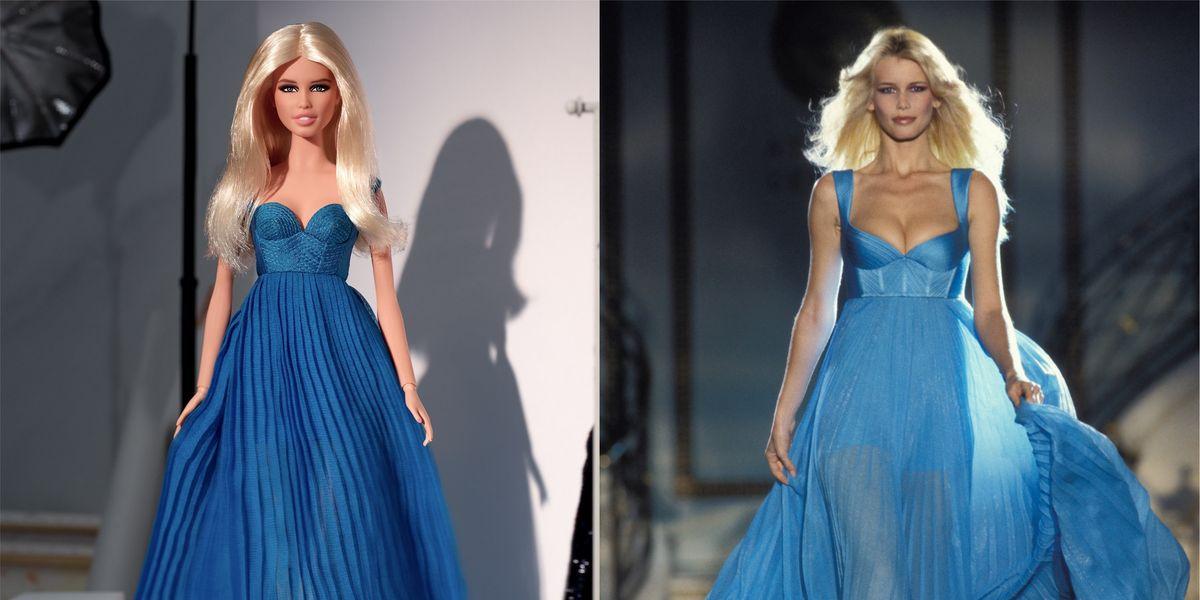Claudia Schiffer Gets a Barbie Replica for Her Birthday