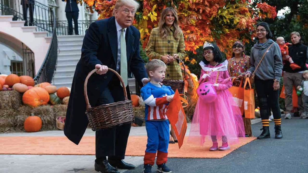 Elementary schooler asked by administrator to remove most of his Trump costume for 'Super Hero Day' — and folks are not pleased