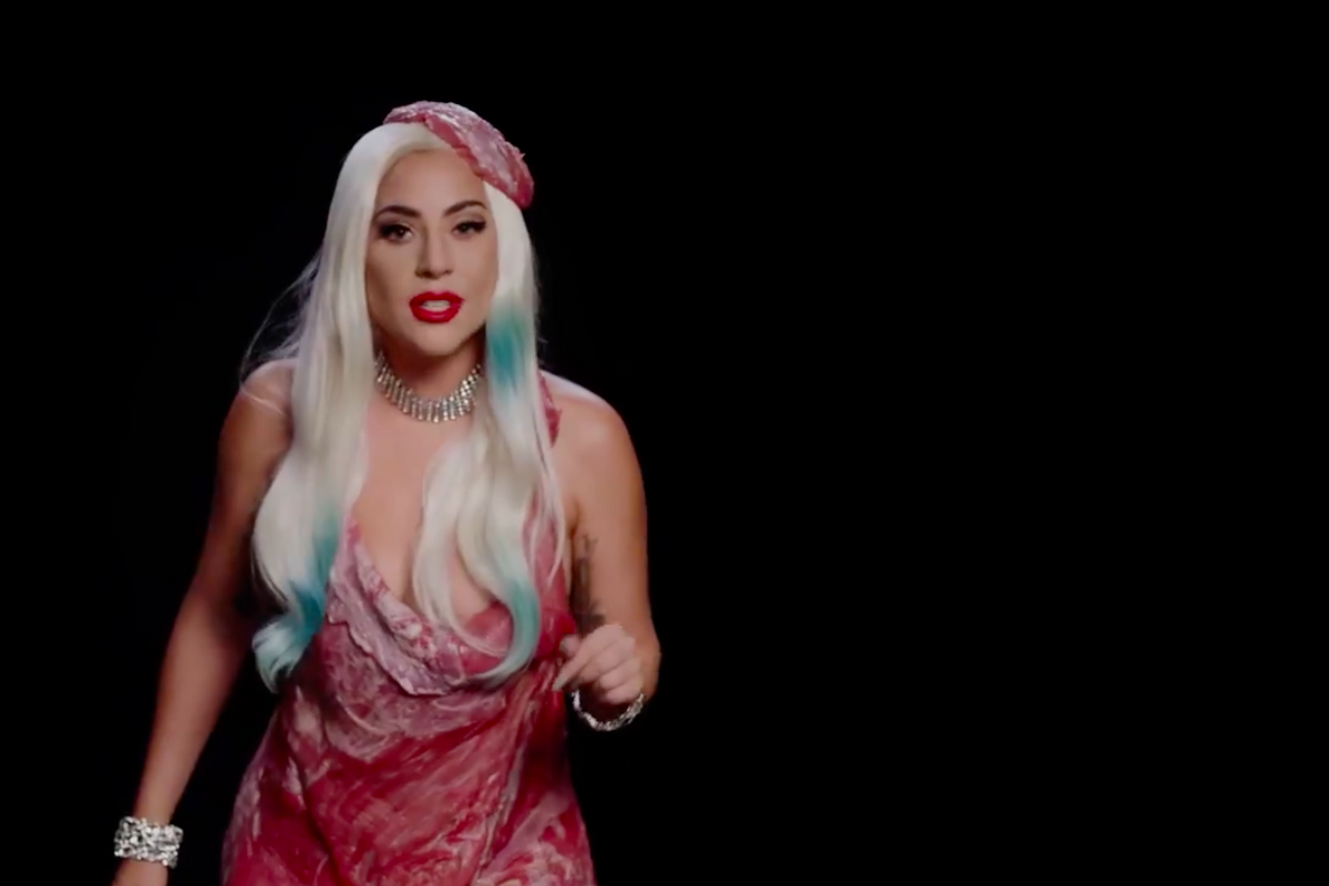 Lady Gaga Brought Back the Meat Dress to Encourage Voting