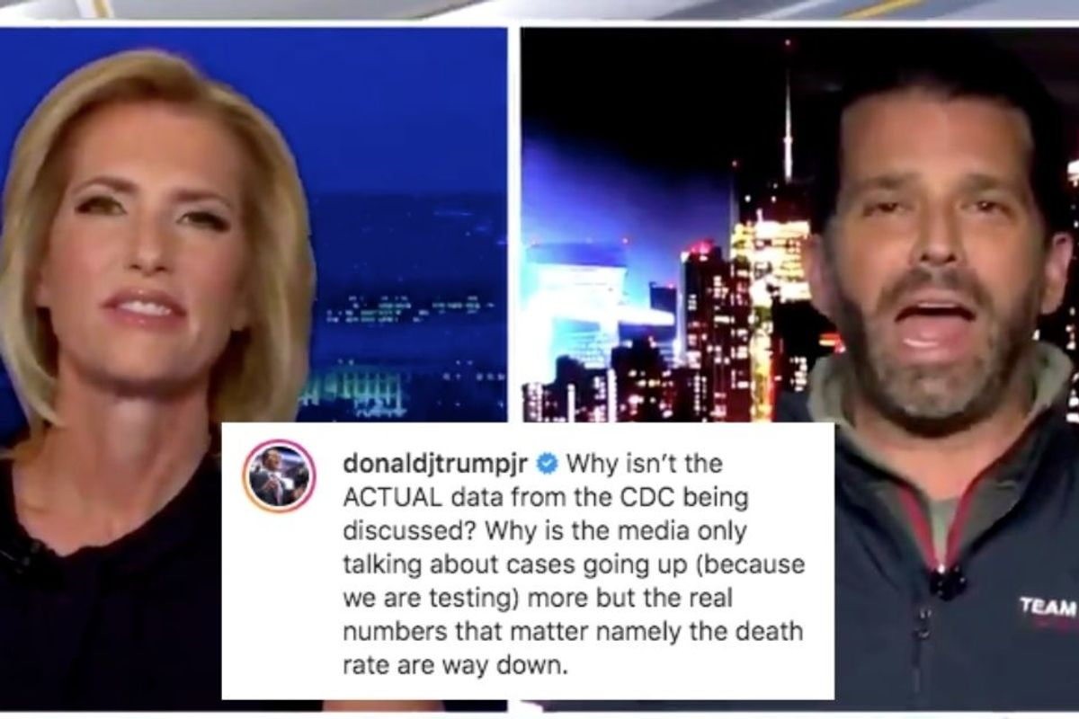 Donald Trump Jr. used real CDC data to draw an absolutely ridiculous conclusion