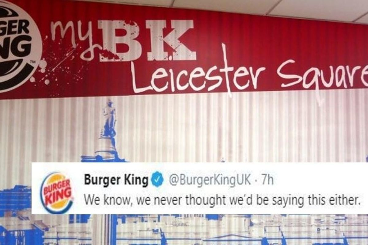 Burger King is doing the unthinkable and openly asking people to buy food from McDonald's