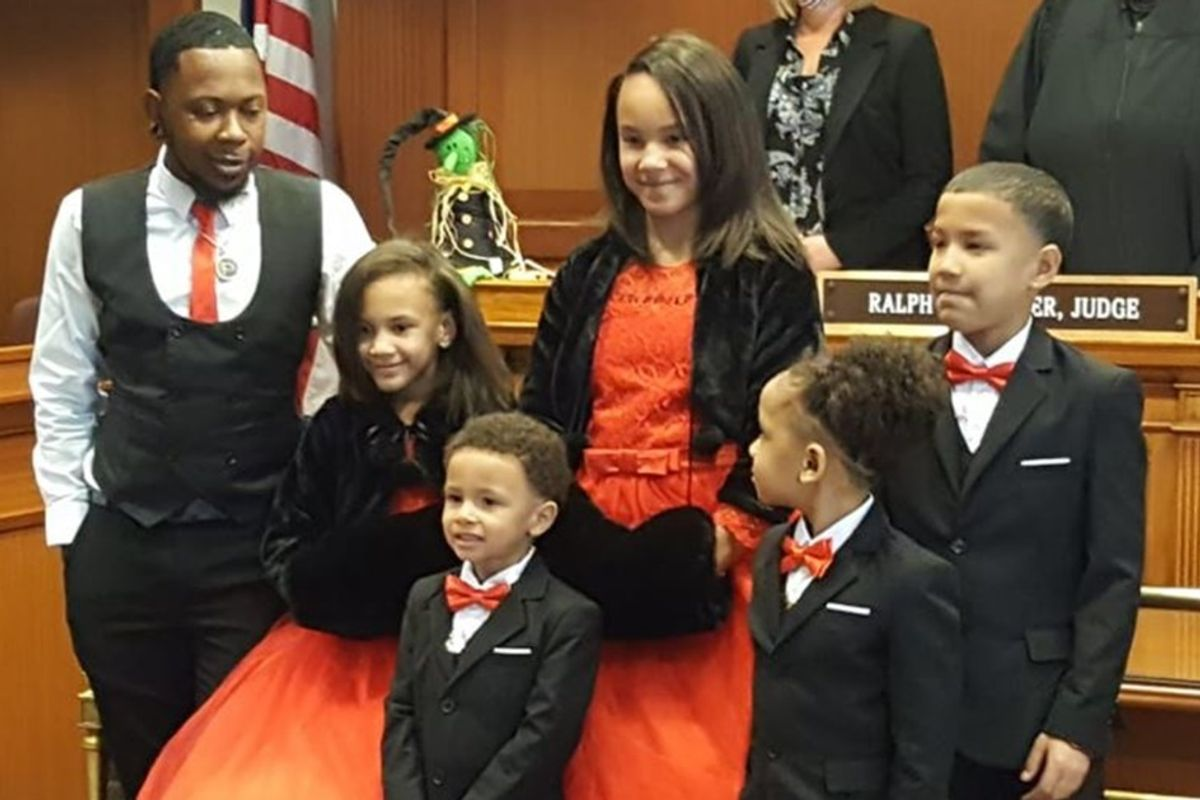 Single dad adopts five siblings so they'll never be separated again