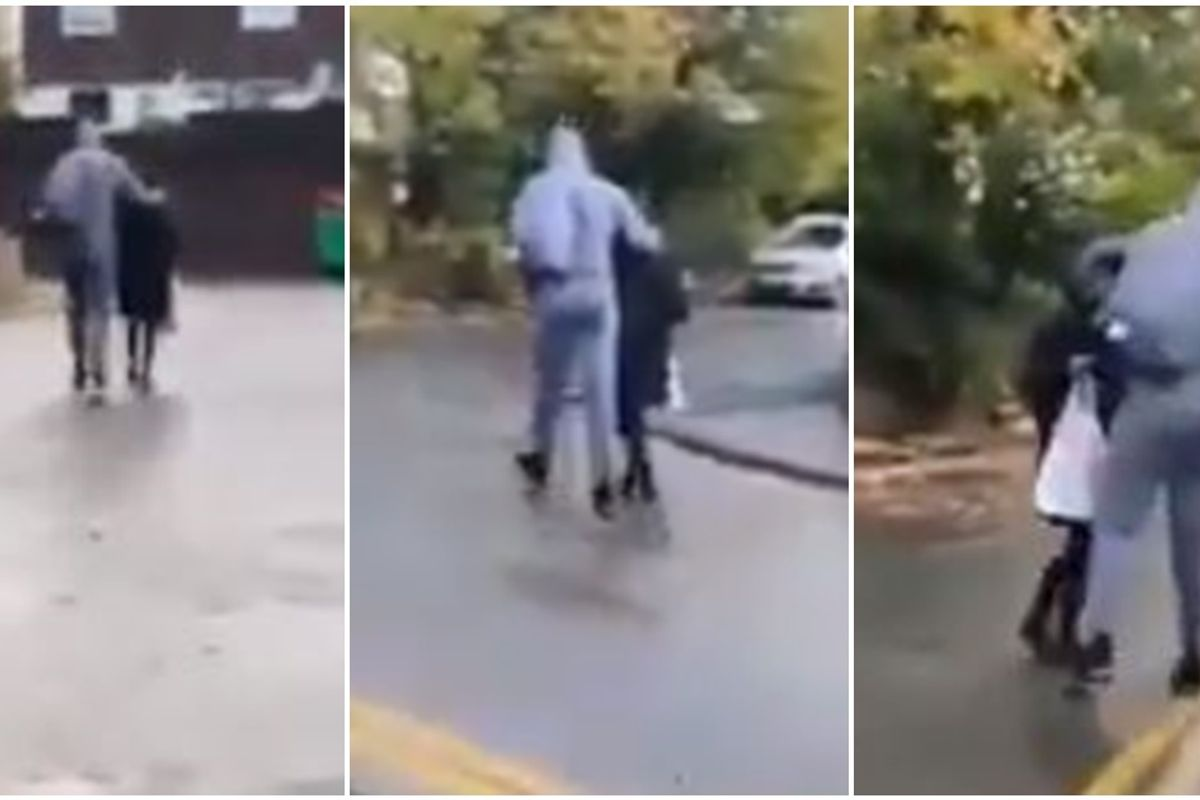 Live video shows a woman bravely saving a young girl from being abducted this morning