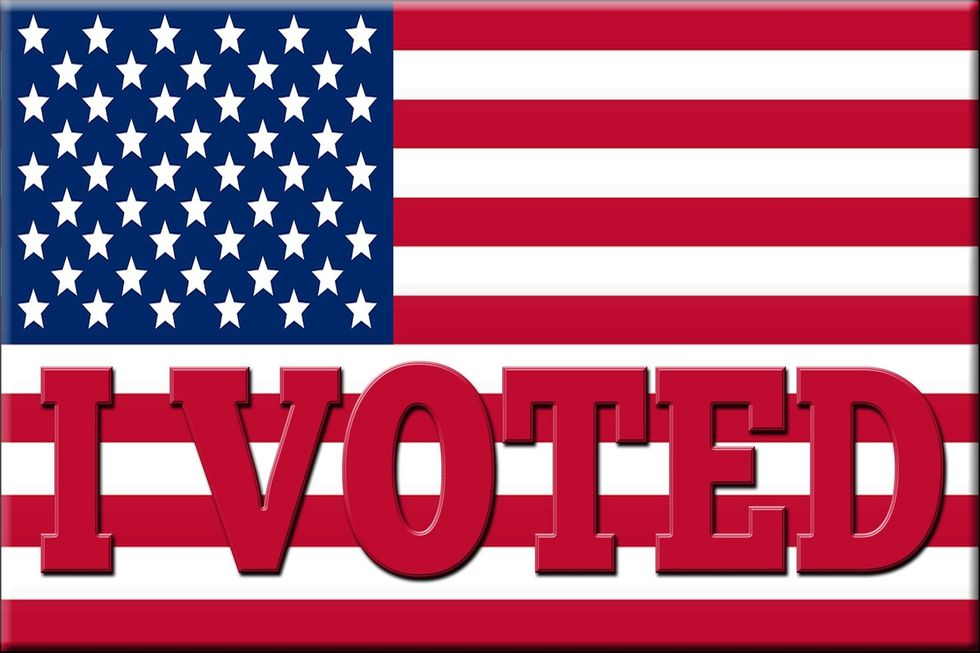 One of the most important factors of voting – Getting that sticker!