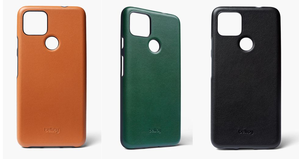 Leather Bellroy case for the Google Pixel 5
