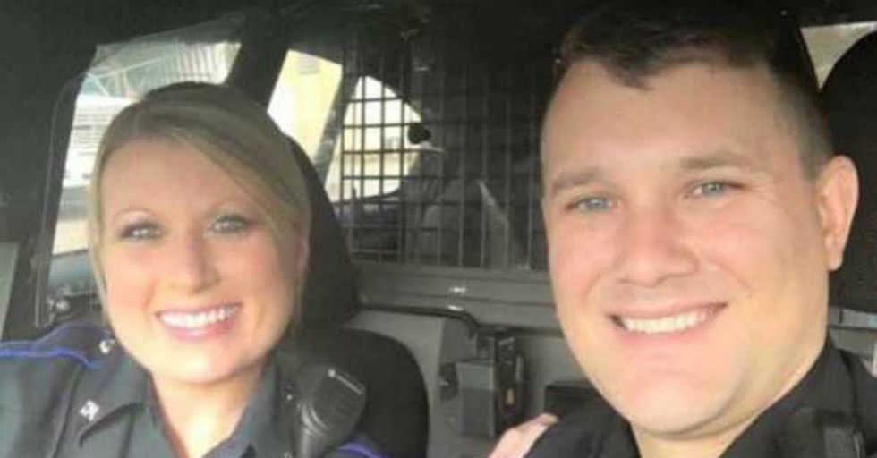 Look Closely At This Photo of Two Cops. It's Going Viral For One STUNNING Reason