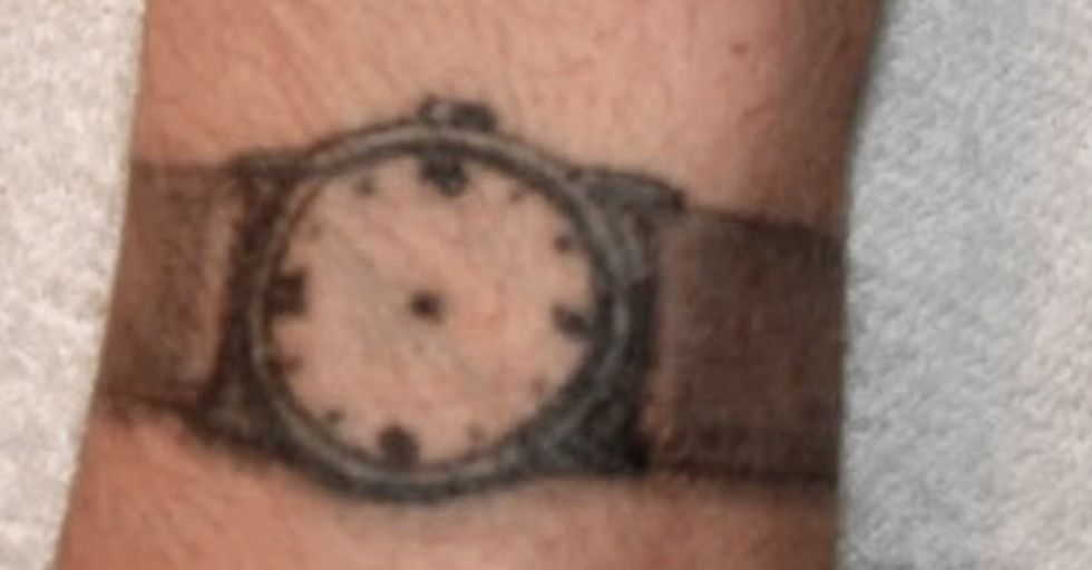 watch with no hands prison tattoo