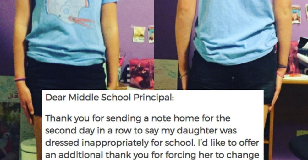Mom's Smartass Letter to Her Daughter's Principal over the Dress Code Will Have You Fuming