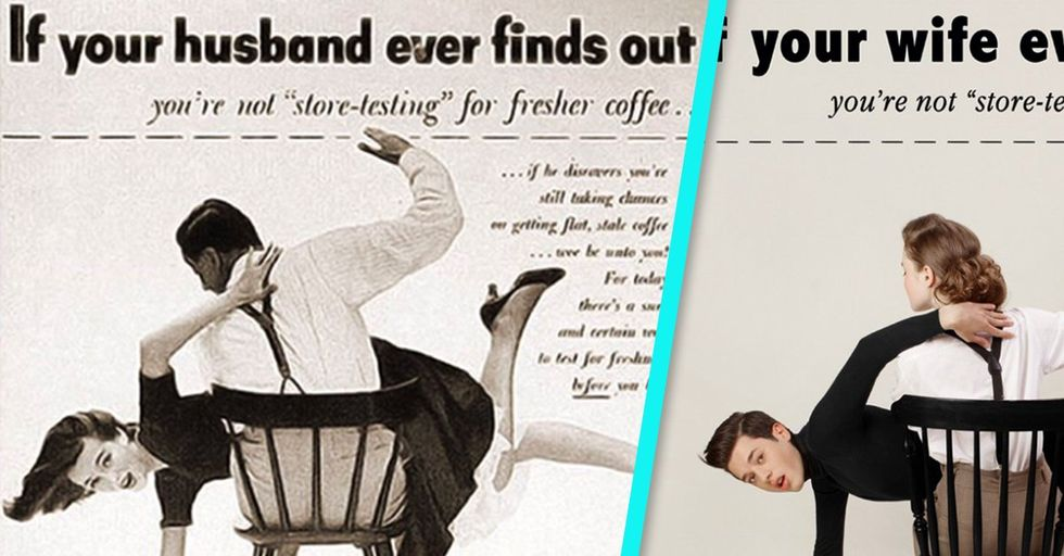 An Artist Switched the Sexes in a Series of Vintage Ads, and We Can't Look Away
