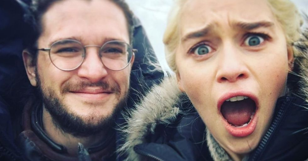 19 Photos of the Cast of 'Game of Thrones' Behind the Scenes Every Fan Needs to See