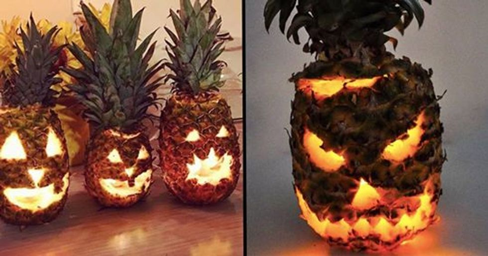 People Are Using Pineapples Instead Of Pumpkins And They're Terrifying