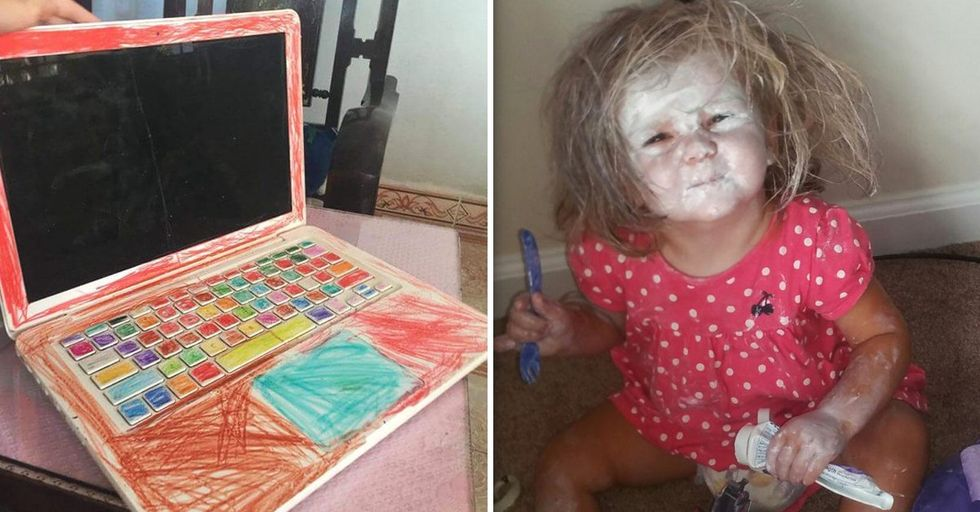 Hilarious Pictures of Kids Who Are Intent on Making Their Parents' Lives a Nightmare