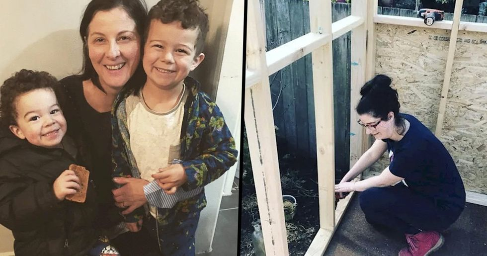 Single Mom Facing Homelessness Builds House for $10,000 Instead of Taking out Mortgage