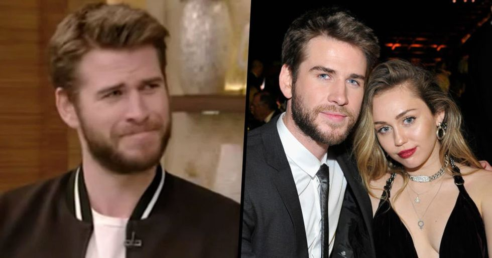 Liam Hemsworth 'Tears up' After Revealing Miley Cyrus Has Taken His Last Name
