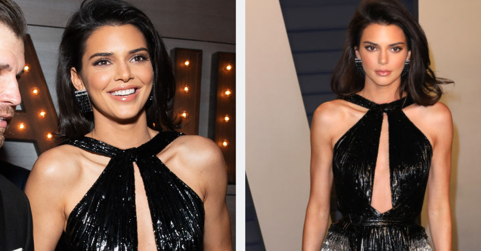 Kendall Jenner Essentially Wore a Loincloth to the Vanity Fair Oscar Party