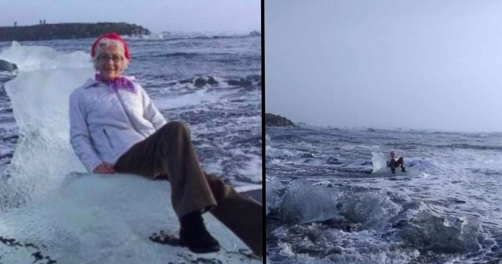 Grandma Swept out to Sea After Posing on a Throne-Shaped Iceberg