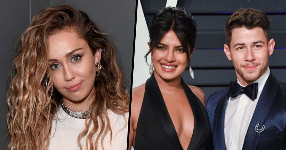 Miley Cyrus Posts DM From Nick Jonas and Priyanka Chopra Responded