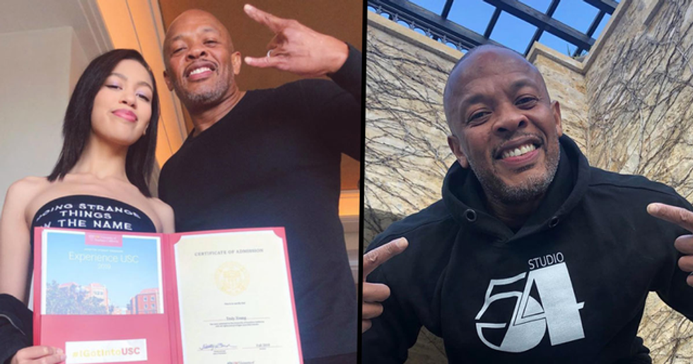 Dr Dre Shows off About His Daughter Getting Into USC With 'No Jail Time'