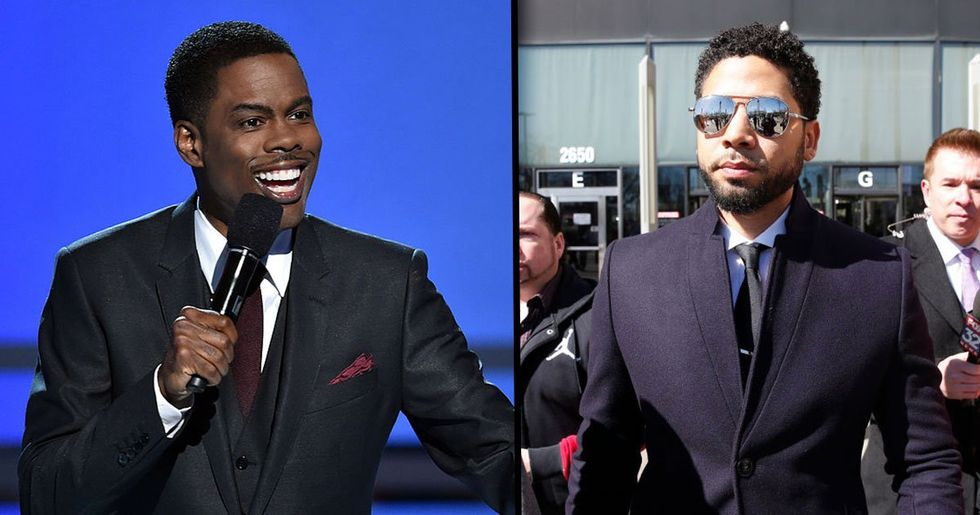 Chris Rock Brutally Roasts Jussie Smollett Even Though He Was Told Not to