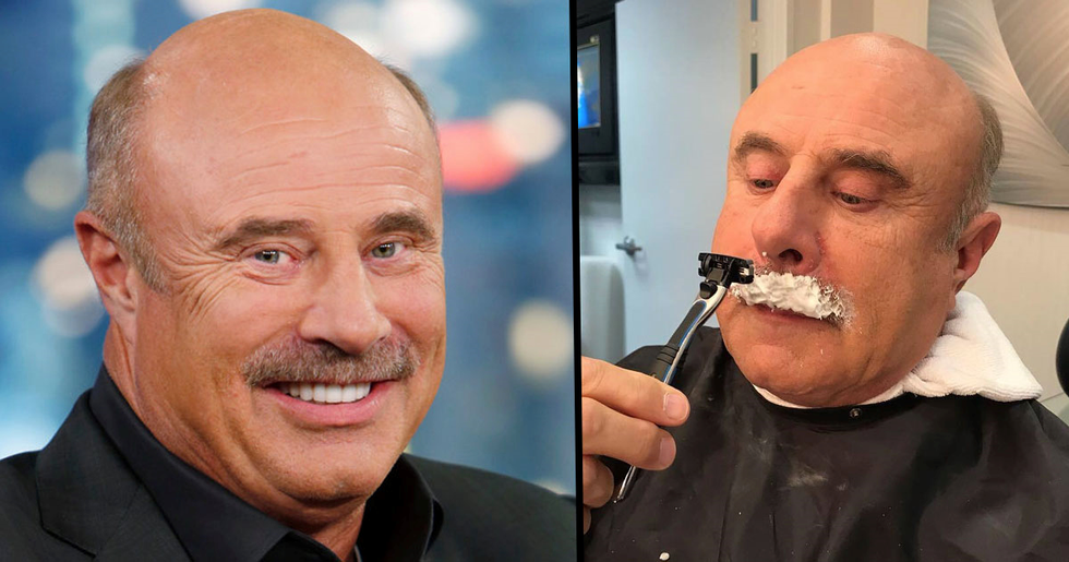 Dr. Phil 'Shaves off' Iconic Mustache and Looks Totally Different