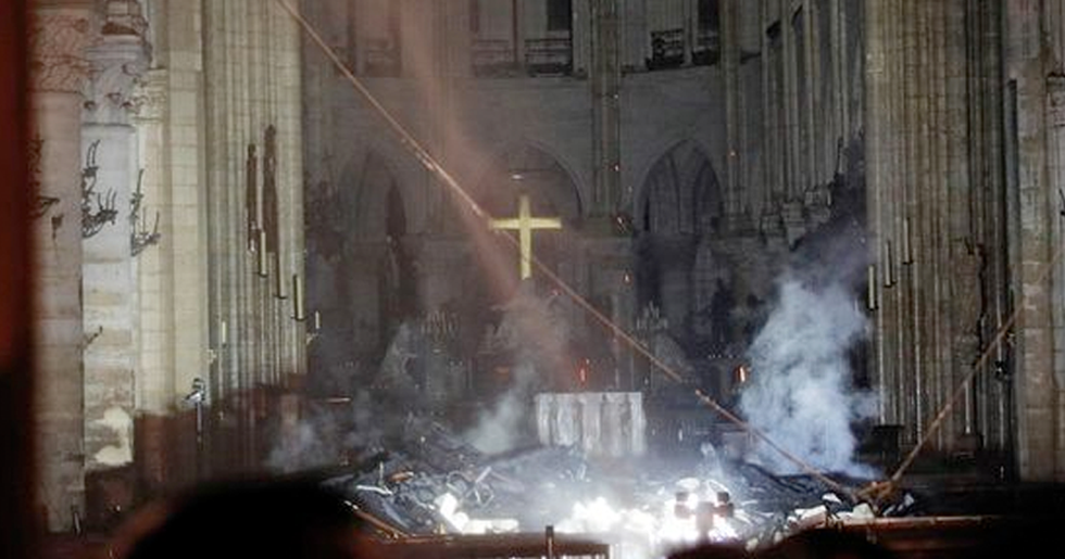 Notre Dame Cross Remains Intact After Fire