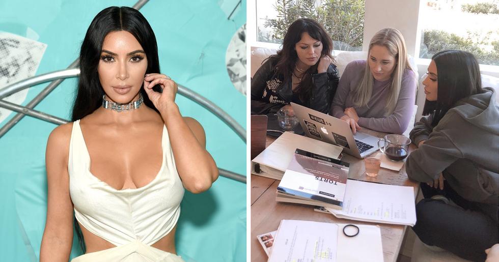 Everyone Said the Same Thing When Kim Kardashian Arrived for Law School Exam