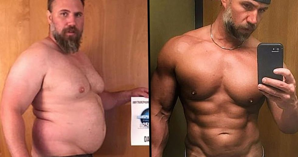 Dad Shows Off Ripped Body After Losing 92lbs In Five Months