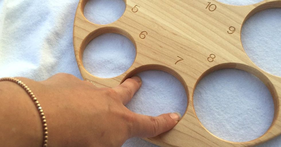 Wooden Cervix Chart Shows What 10 Centimeters Dilated Really Looks Like