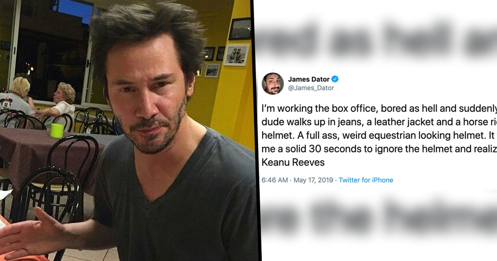 Guy Shares How Keanu Reeves Bought Ice Cream Just to Give Him an Autograph