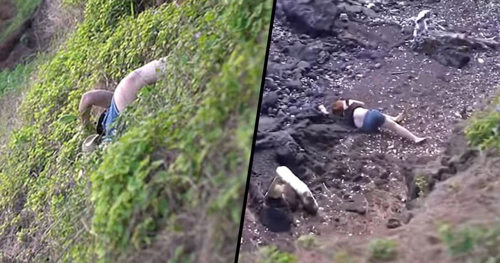 Video of Man Watching Wife Fall From Cliff Has Divided Internet