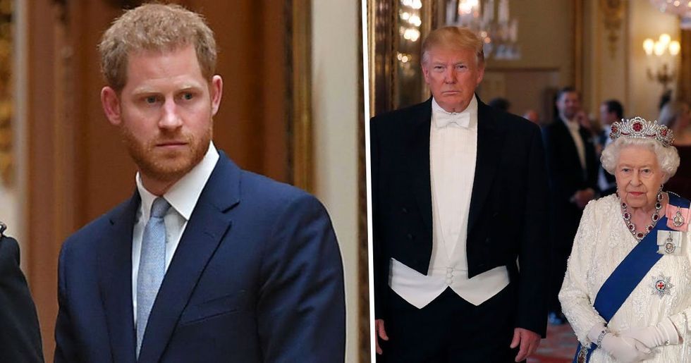 Prince Harry Snubs Donald Trump at Buckingham Palace After He Called Meghan Markle Nasty