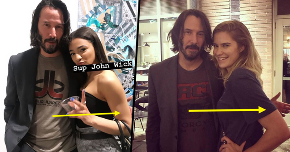 Keanu Reeves 'Respectfully' Avoids Touching Female Fans When Posing for Pictures