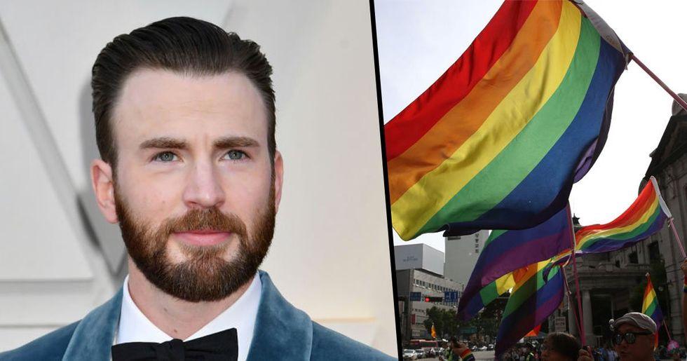Chris Evans Slams 'Homophobic' People Who Planned Straight Pride in Boston