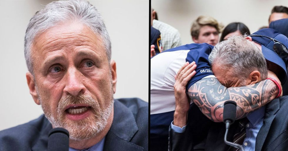 Jon Stewart Yelled at Members of Congress for Not Sitting Through Hearing About 9/11 First Responder Benefits