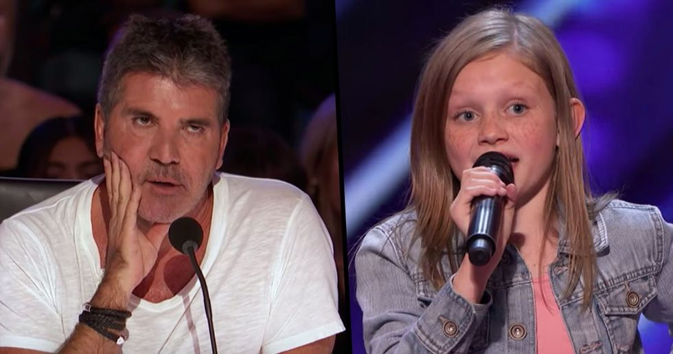 12-Year-Old Doesn't Back down After Simon Cowell Asks Her to Perform Without Music
