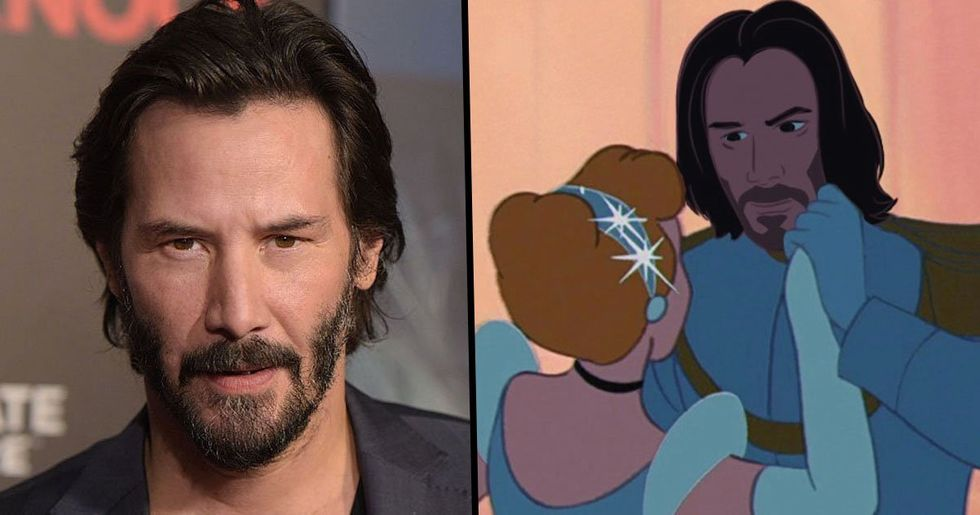 Artist Turns Keanu Reeves Into All Your Favorite Disney Princes