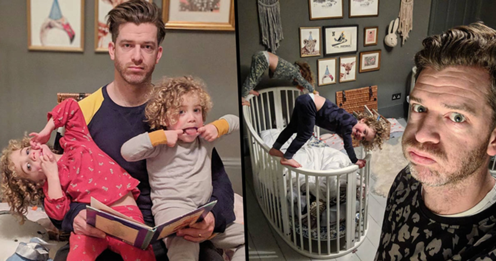 Dad With Four Daughters Gets 1 Million Followers for His Hilariously Honest Photos