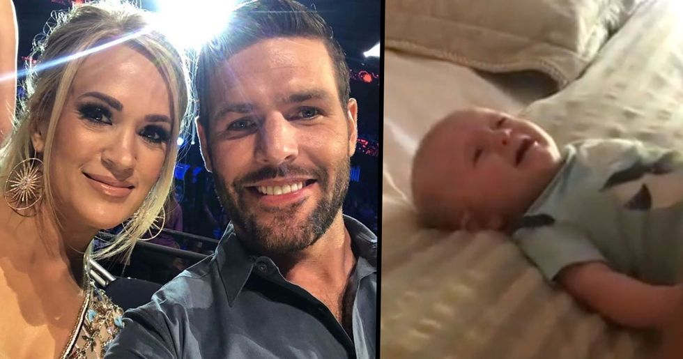 Carrie Underwood's Baby Son Cries When His Dad Sings, but Immediately Stops When She Sings