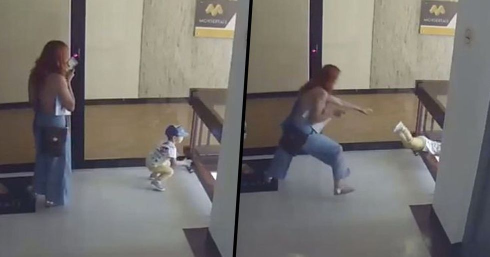 Mom Jumps to Save Son From Falling Through Stair Railing on Fourth-Floor Balcony