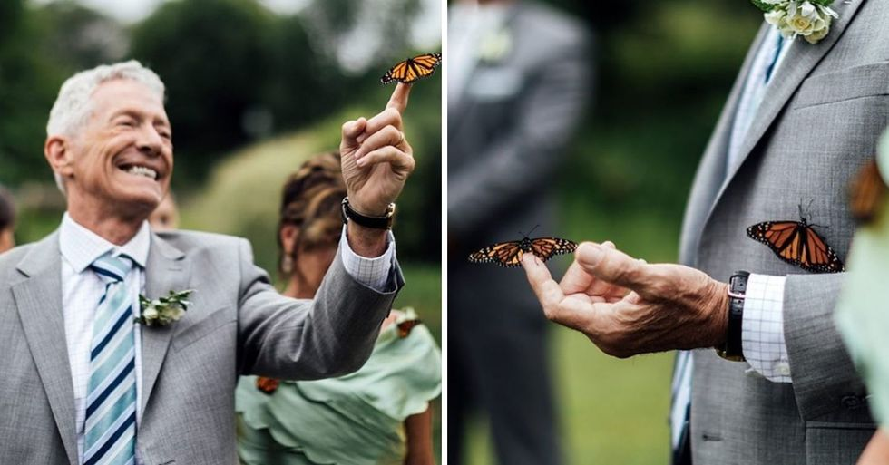 Butterfly Lands on Dad's Hand During Tribute to Daughter Who Had Died