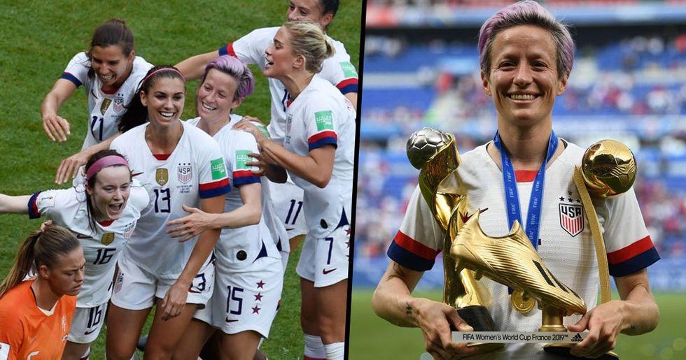 Here's the Huge Pay Gap Between U.S. Women's Team Winning the World Cup vs the Men