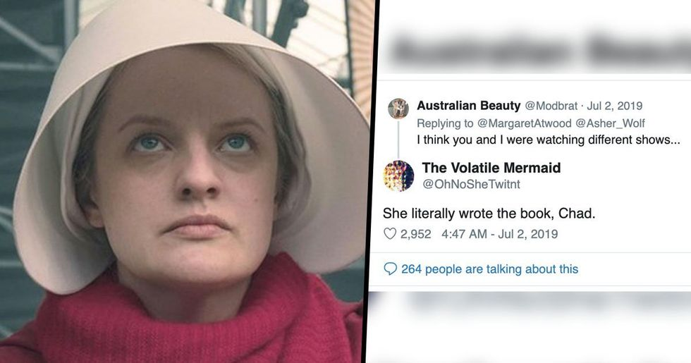 Guy Tries To Mansplain 'The Handmaid's Tale' to Author, Gets Owned