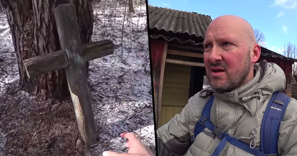 Guy Exploring the Real Chernobyl Zone Discovers 92-Year-Old Grandma and Her Son Living There
